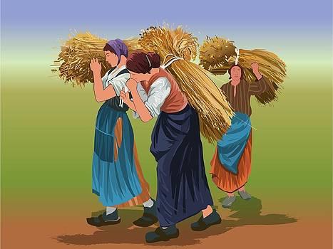 Women forage rhythm goindigital  by Prakash Leuva