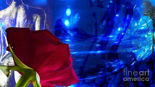Women in Love with red Rose by Eva-Maria Di Bella