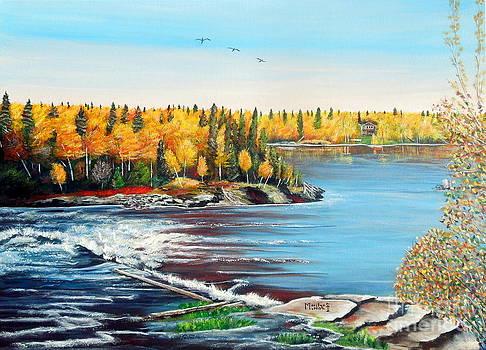Wood Falls 3 by Marilyn  McNish