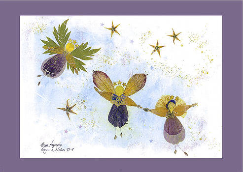 Wood Nymphs - with border by Karen Nelson