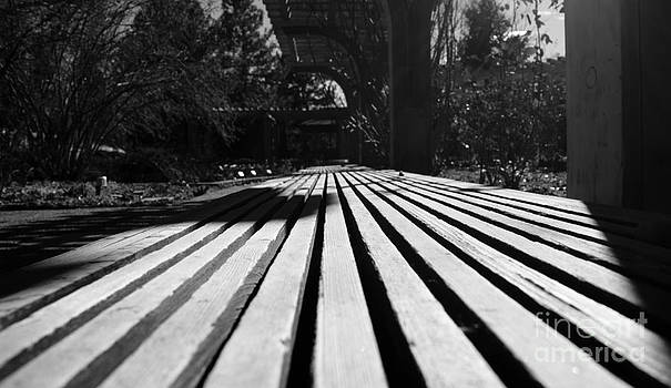 Wooden Bench by Valerie Beasley
