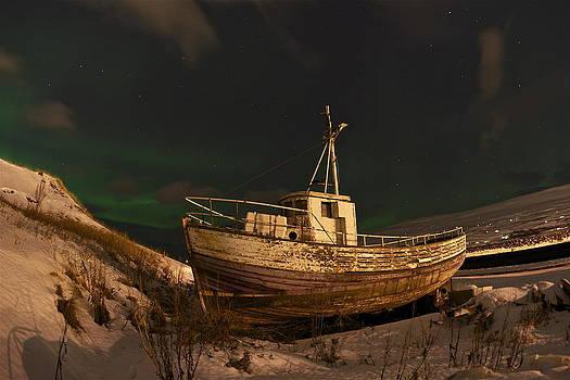 Wooden boat. by Erlendur Gudmundsson