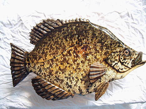 Wooden Caddo Black Crappie number one by Lisa Ruggiero
