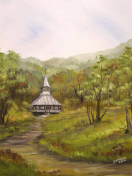 Wooden Church in Transylvania by Dorothy Maier