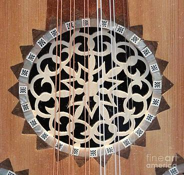 Wooden Guitar Inlay with Strings by Cynthia Snyder