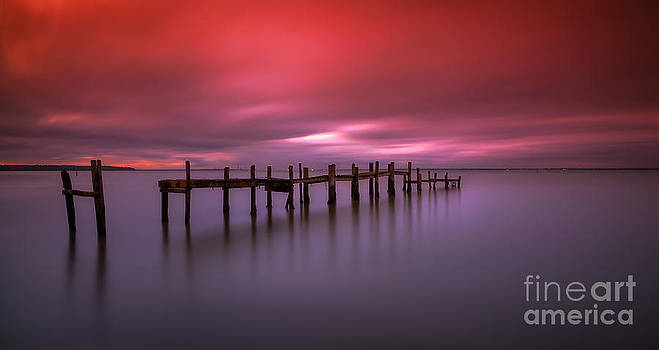 English Landscapes - Wooden Jetty Sunset