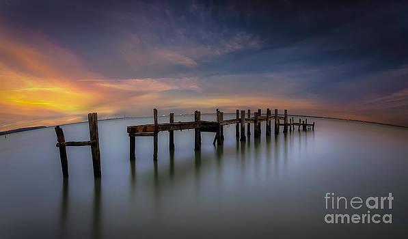 English Landscapes - Wooden Pier Sunset