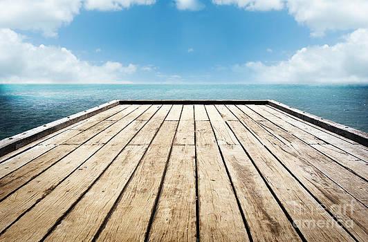 Tim Hester - Wooden Surface Sky Background
