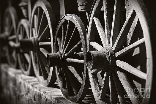 Wooden  Wagon Wheels by Martin Dzurjanik