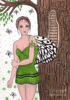 Woodland Tree Nymph Fairy by Sherry Goeben
