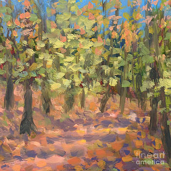Woods Late October by Jane Simonson
