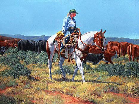 Working Cowgirl by Randy Follis