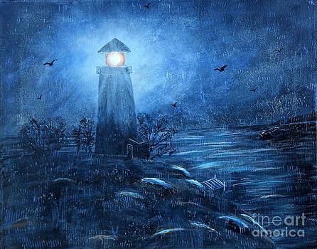 Barbara Griffin - Working Night Shift in the Rain