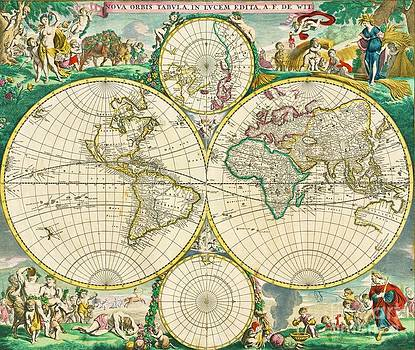 Reproduction - World Map - 1670