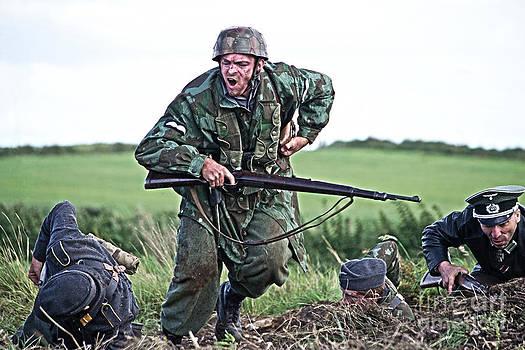 World War 2 Re-enactor German Paratrooper by Tony Black