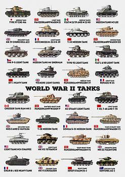 World War II Tanks by Taylan Apukovska