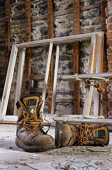 Worn Out Work Boots by Paul Wash