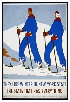 WPA New York State Skiing by David Seguin
