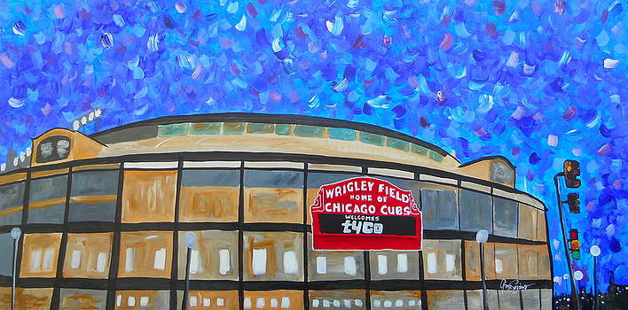 Wrigley Field by Gino Savarino