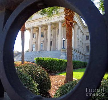 Wrought Iron Round  US Custom House Charleston SC by Lisa Jones
