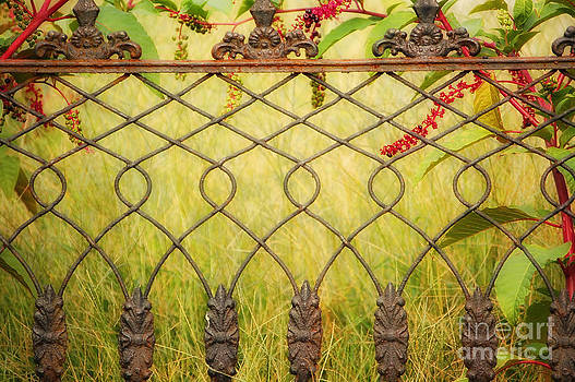 Kathleen K Parker - Wrought Iron with Red and Green