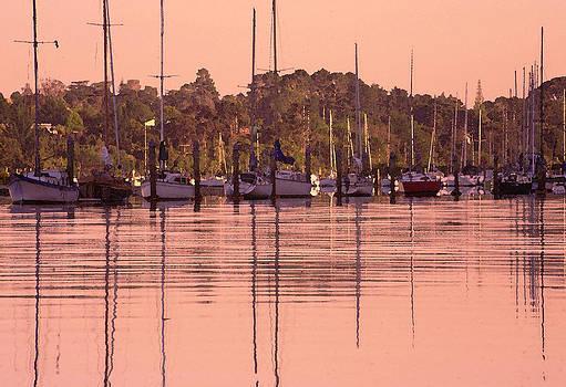 Yachts at dawn by Gordon  Grimwade