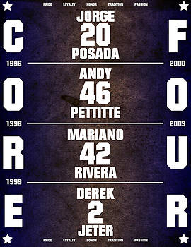 Yankees Core Four Chart by Anibal Diaz