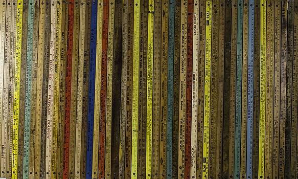 Yardsticks - Colorful by Kurt Olson