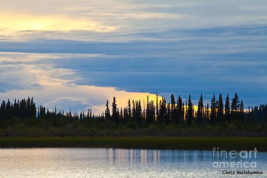 Yarger Lake Sunset by Chris Heitstuman