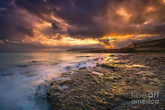 English Landscapes - Yaverland Beach Sunset