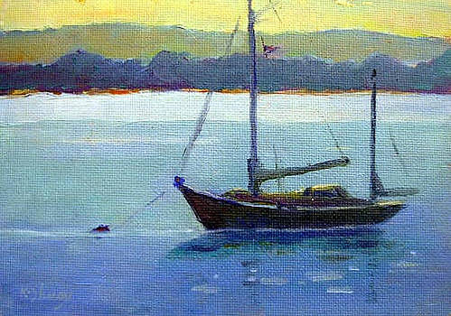 Yawl on Connecticut River by Ken Shuey