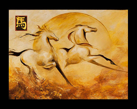 Year of the Horse 2 print by Dina Dargo