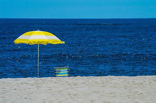 Yellow Beach Umbrella by Andrew Kazmierski
