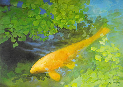 Yellow Carp in Green by Robert Conway