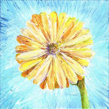 Regina Valluzzi - Yellow daisy miniature painting