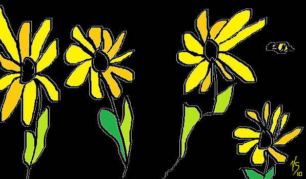 Yellow Flowers by Vivian Sutherland