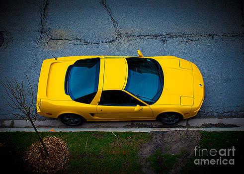 Yellow NSX T by Jason Feldman
