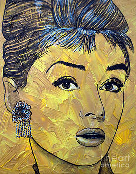 Yellow Pop Audrey by Malinda Prudhomme