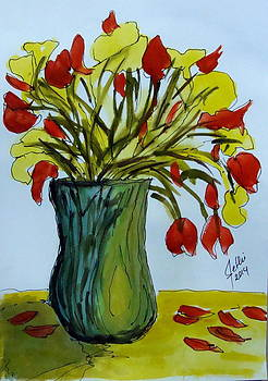 Yellow-Red Flowers  by Fethi Canbaz