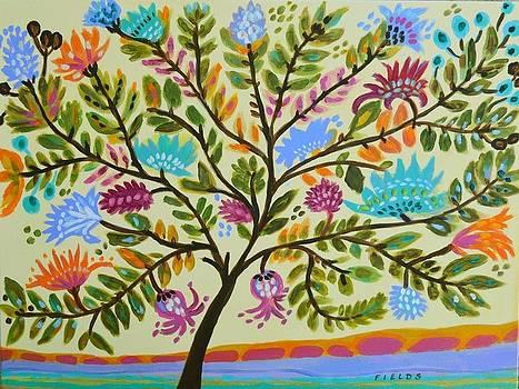 Yellow Sky Tree by Karen Fields