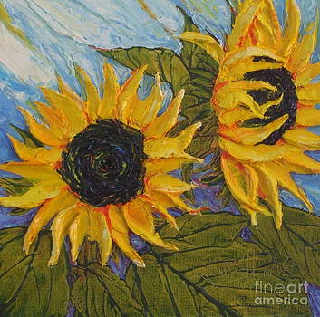 Yellow Sunflower Study by Paris Wyatt Llanso