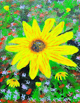 Yellow Wildflowers by Laura Lawless