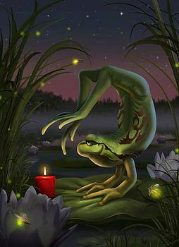 Yoga Frog by Jessica LeClerc