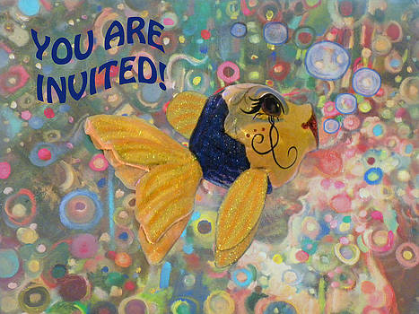 You Are Invited Fish Party Card by Sandi OReilly
