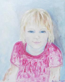 Young blue-eyed girl  by Barbara Anna Knauf