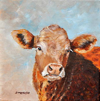 Young Calf Ben by Louise Charles-Saarikoski