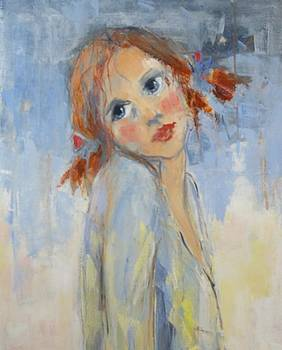 Young Girl by Lisbeth Courcambeck