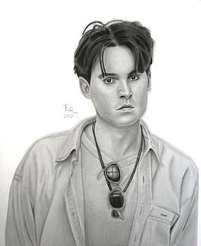 Young Johnny Depp by Enrique Garcia