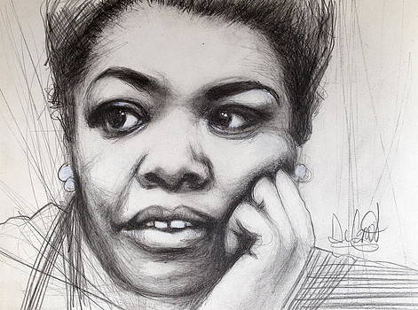 Young Maya Angelou by Gregory DeGroat