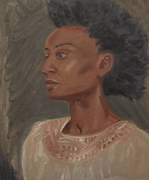Young Woman with an Afro by Jeffrey Oleniacz